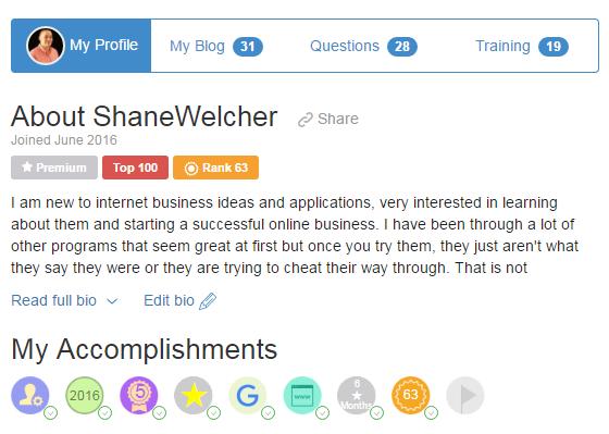 My WA profile